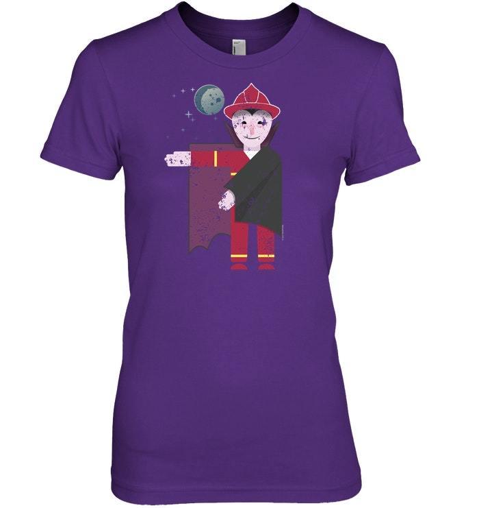 Funny Vampire Firefighter Tshirt Halloween Tshirt