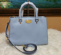 Michael Kors Bedford Medium carryall satchel Leather Shoulder Bag purse ... - $129.00