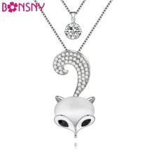 W colorful crystal fox brand charm necklace bailarina pendant alloy charm brand jewelry thumb200