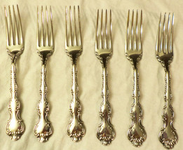 "6 Birks Regency Plate Louis de France Dinner Forks NO Monogram 7"" 1950s - $75.99"