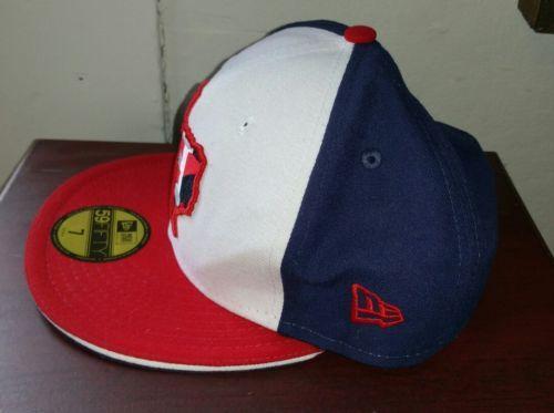 New Era Astros Houston Rojo Azul Texas Estado 59FIFTY Gorra Ajustada Size 7  Raro 768f4034565