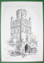 ARCHITECTURE PRINT : Germany Prussia Uengliner Tower in Stendal - $26.99