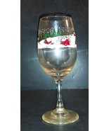 7.75 Inch Tall Winter Outdoors Christmas Themed Wine Glass - $4.99