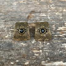 VINTAGE Bronze Stud earrings-- 093 - $7.91