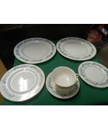 "Beautiful THEODORE HAVILAND ""Clinton"" 6 pieces of Dinnerware-Plates etc. - $29.29"