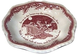 """Johnson Brothers Twas The Night Before Christmas Serving Bowl Scallop 9"""" (S) New - $59.39"""