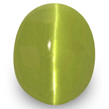 IGI Certified INDIA Chrysoberyl Cat's Eye 3.85 Cts Natural Untreated Oval - $866.00