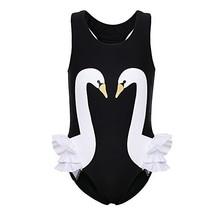 BAOHULU Girls One Piece Bathing Swimsuit Lovely Stripe Swimwear S261_Pur... - $12.63