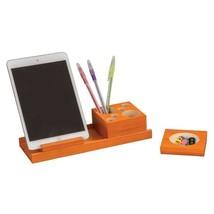 Safco Splash 4 Piece Wood Desk Organizer Set in Orange 691202721413  - $43.79