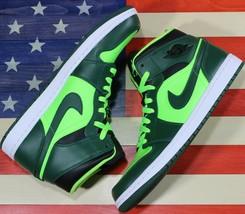 Nike Air Jordan 1 Mid Hulk Retro George Green Basketball Shoe i[554724-3... - $188.88