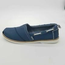 Skechers Bobs Womens Chill Luxe-New Light Boat Shoes Blue Memory Foam 8.... - $24.74
