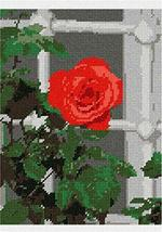 pepita Open Rose by The Window (Large) Needlepoint Kit - $163.00