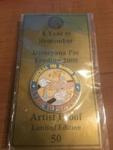 2000 DISNEYANA PIN TRADING - A YEAR TO REMEMBER - GOLD two -  ARTIST PRO... - $19.99