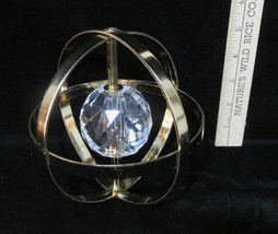 Sphere Sun Catcher Round Plastic Faceted Crystal in Center Paperweight P... - $24.74