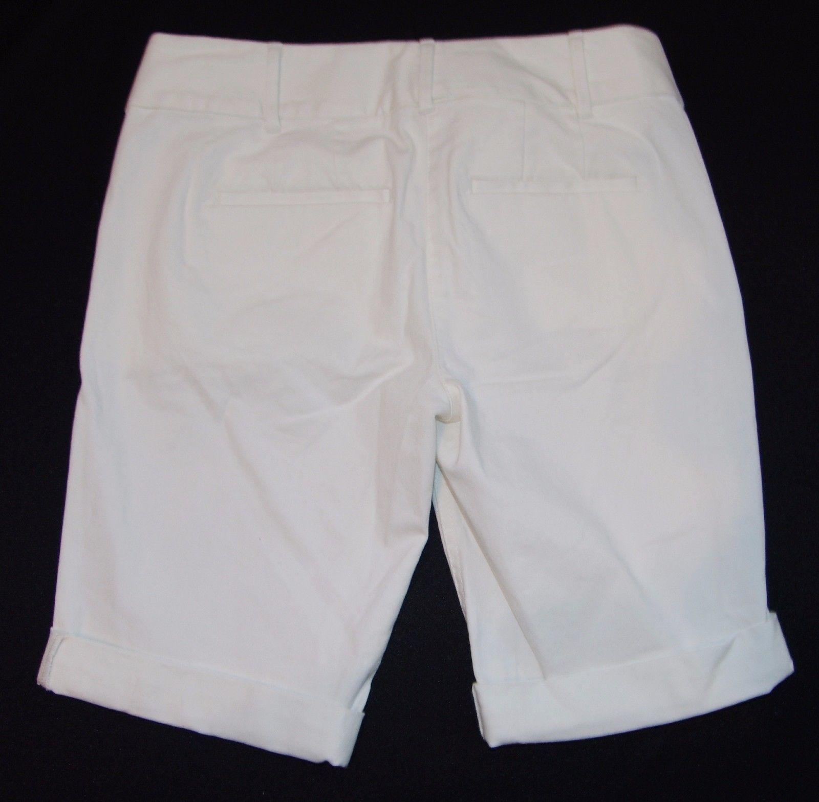 Ann Taylor Loft Nuevo con Etiquetas Pantalón Corto Talla 0 XS Blanco Bermudas