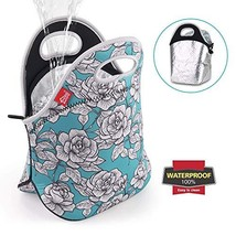 Floral Lunch Bags for Women Insulated Lunch Box Leakproof Reusable Neoprene Lunc - $14.79