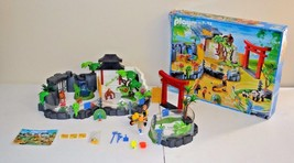PLAYMOBIL ASIAN ANIMAL ENCLOSURE ZOO 4852 PLAYSET ALMOST COMPLETE W/BOX ... - $79.19