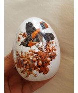 """Avon Porcelain Egg, """"Autumn Brings Magic Changes"""" Egg is 3"""" Tall pre-owned  - $18.52"""