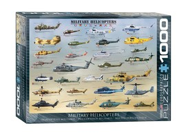 """NEW Eurographics Jigsaw Puzzle 1000 Pieces Tiles """"Military Helicopters"""" - $30.89"""