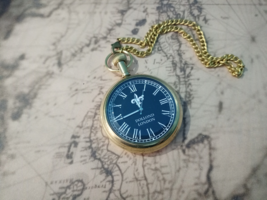 Brass Pocket Watch with Chain Look  1920  Vintage Pocket Watch for Men a... - $38.00