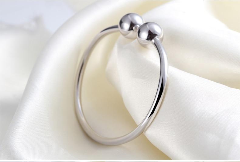 Hot 925 Sterling Silver Smooth Beads Bracelet for Women bracelets wedding Jewelr