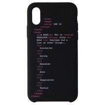 My Social Canvas Girl Code Phone Case for iPhone XS / iPhone X - Black - $27.49