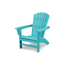 Portable Outdoor Chair with Curved Back Blue Stylish Transitional Sturdy... - $220.99