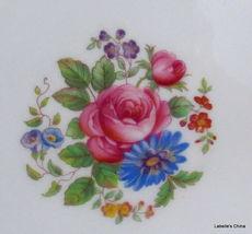 "Aynsley England 8"" Salad Plate Green Flowers 7359 English Bone China Gilt Trim image 3"