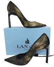 $980 Lanvin Classic Gold Metallic Brushed Calf Hair Pumps Heels Shoes 39.5 - $388.00