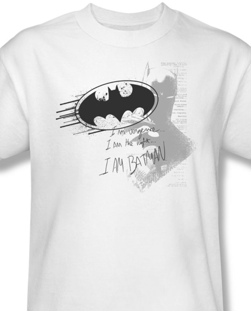 Batman dc comics i am vengence superhero for sale online graphic white tee bm1278 at
