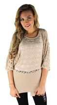 NEW NWT BEBE WOMEN'S PREMIUM COTTON KNIT TOP SWEATER BLOUSE KIMONO SLEEVE SIZE S