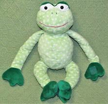 "Commonwealth Hanging Frog Green Polka Dot Stuffed Animal Sticky Hands Feet 13"" - $13.10"