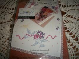 Bucilla Stamped Cross Stitch Dresser Scarf 64450~Doves - $15.00