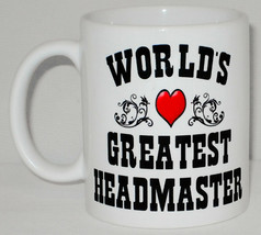 World's Greatest Headmaster Mug Can Personalise Great School Head Princi... - $9.23