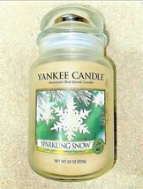 Yankee Candle - Sparkling Snow Large Jar Candle NEW Retired Scent - $39.59