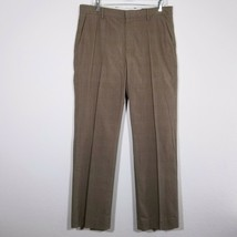 BANANA REPUBLIC Mens Beige Plaid Dress Pants Tag Size 32x32 (Actual Size... - $17.55