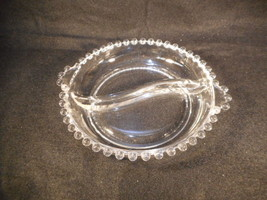 Vintage Imperial Candlewick Clear Glass Two Handled Divided Relish Candy... - $17.82