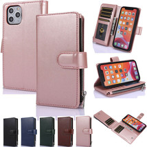 For iPhone 11 12 Pro Max XR 7 8+  Wallet Leather Magnetic Flip cover case - $65.60