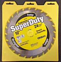 """Oldham 100C424 Contractor Super Duty 10"""" x 24 Carbide Tooth Saw Blade - $10.89"""