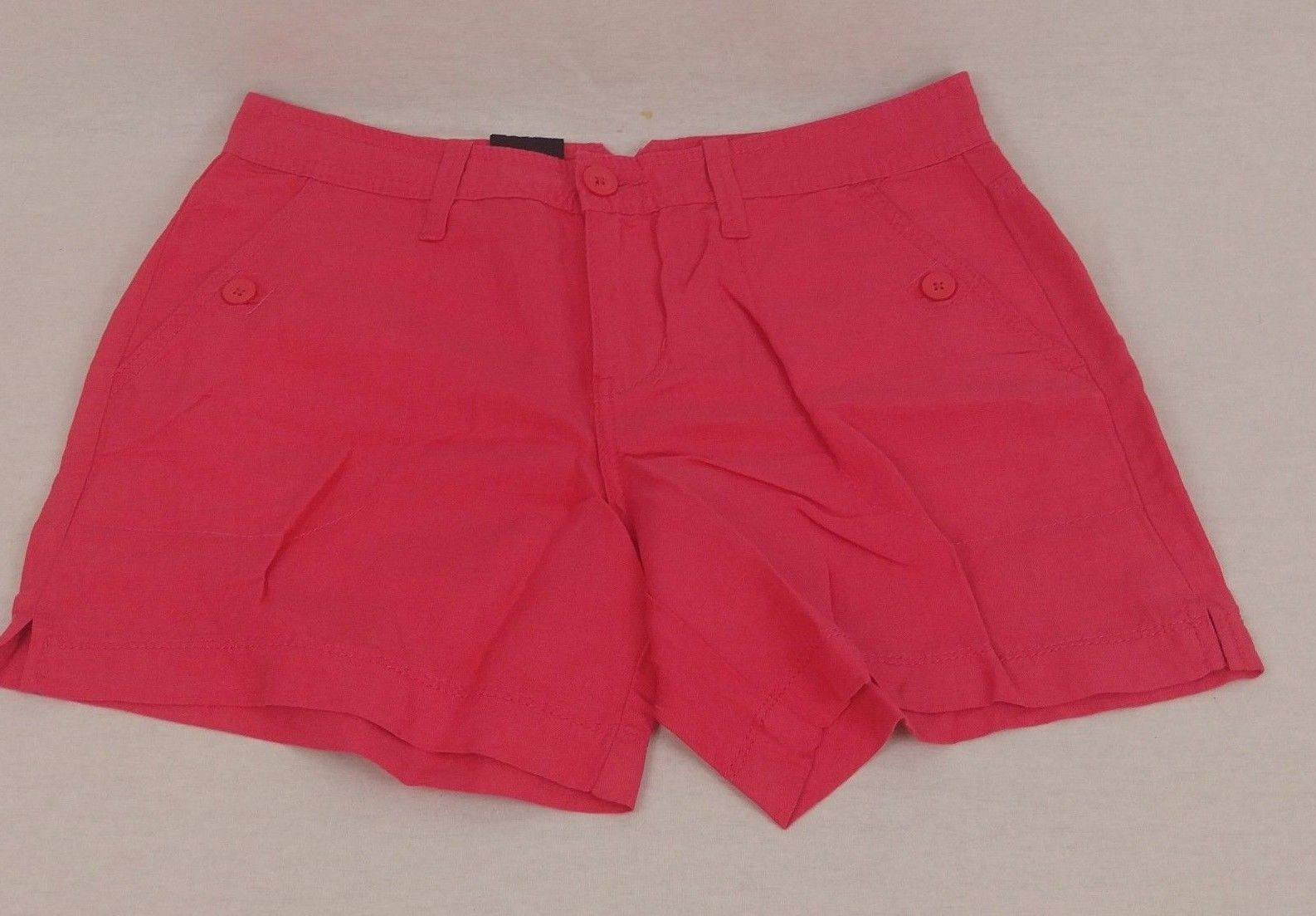 Primary image for Calvin Klein Jeans Women's Linen Lightweight Shorts Color-Coral Flower Sz-2 NWT