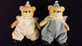 Poseable Teddy Bear Porcelain Birthday Set Boy & Girl HOMCO - $20.00