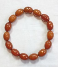 VINTAGE TESTED ART DECO BUTTERSCOTCH AMBER BAKELITE NECKLACE 15 BIG BEAD... - $924.09