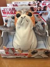 Disney Parks Star Wars Porg Talking Plush Figure by Hasbro New with Box - $53.45