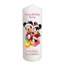 "Cellini Candles Unique Disney Birthday 6"" Mickey Minnie Mouse Keepsake #1 - $12.82"