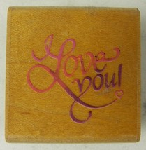 Stampendous Rubber Stamp Small Love You C005 Fancy Script 1995 - $2.59
