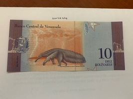 Venezuela 10 bolivares uncirc. banknote 2018 #1 - $3.95