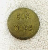 Vintage Brass Car Wash Token 1 1/8 Good Shape - $9.41