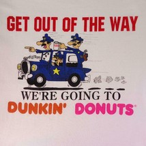 Vintage 90s Police We're Going to Dunkin Donuts Graphic T Shirt Mens Sz ... - $57.95