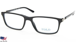 New Polo Ralph Lauren Ph 2191 5001 Shiny Black Eyeglasses Frame 56-18-140 B37mm - $98.98