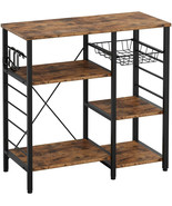 3-Tier Industrial Kitchen Baker's Rack Utility Microwave Oven Stand Stor... - $85.97